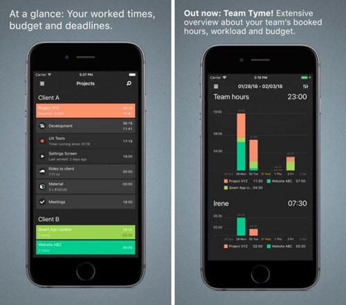 تطبيق Tyme 2 لإدارة أعمالك وأوقاتك