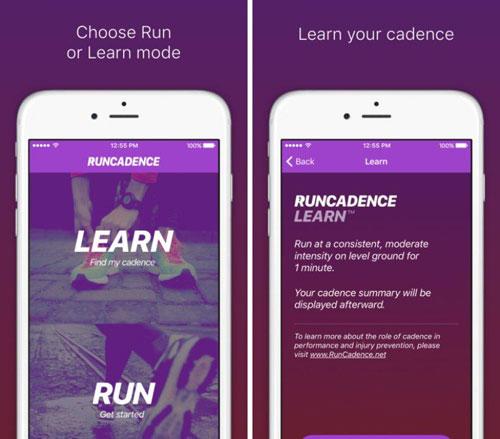 تطبيق RunCadence Mobile لتسجيل احصائيات رياضة الجري