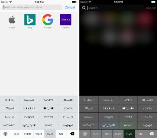 تطبيق Qmoji لوحة مفاتيح مع العديد من الزخارف