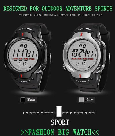 ساعة SYNOKE 61576 Sports Men الرياضية