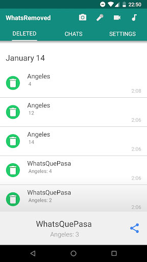 تطبيق WhatsRemoved لمعرفة محتوى رسائل واتس آب المحذوفة