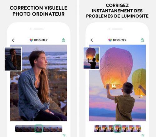 تطبيق Brightly لتصحيح مشاكل الصور المظلمة