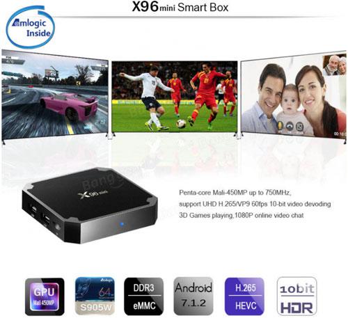 عرض مذهل - حول تلفازك العادي إلى ذكي مع جهاز X96 MINI !