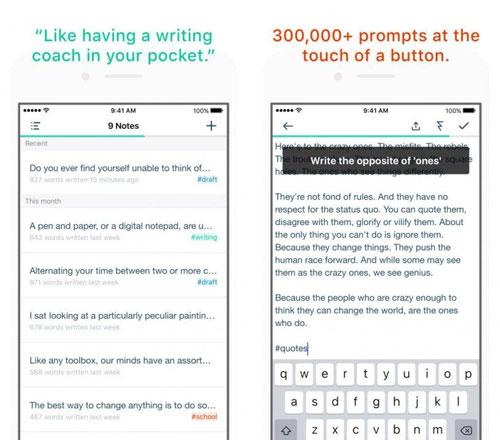 تطبيق Prompts للكتابة بكل حرية وسرعة