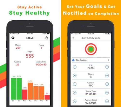 تطبيق Argus Pedometer لمتابعة نشاطاتك الرياضية