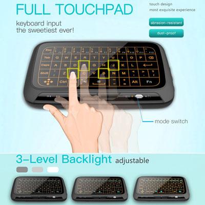 احصل على لوحة المفاتيح H18+ اللاسلكية مع ميزة اللمس !