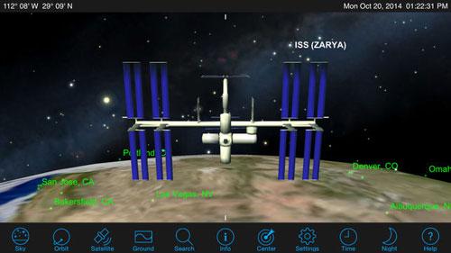 تطبيق Satellite Safari لمتابعة الأقمار الصناعية