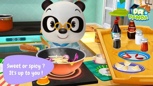 لعبة Dr. Panda Restaurant 2 لتعليم الطبخ للأطفال