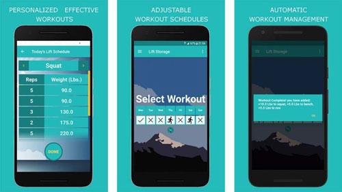 تطبيق Lift Storage لمتابعة تقديمك في نشاطاتك الرياضية