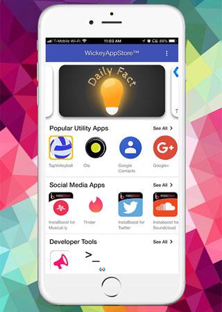 متجر تطبيقات Wickey - لا حاجة إلى تحميل التطبيقات بعد اليوم!