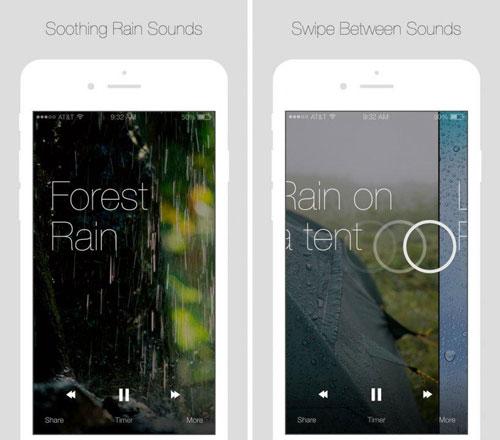 تطبيق Relax Rain للاسترخاء مع صوت المطر