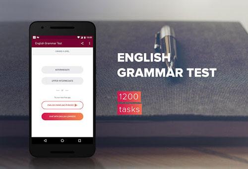 تطبيق اختبار اللغة الإنجليزية النحوي لتقوية لغتك