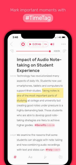 تطبيق Noted لتسجيل ملاحظات الصوتية