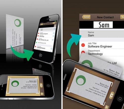 تطبيق SamCard لمسح بطاقات الأعمال وحفظ المعلومات