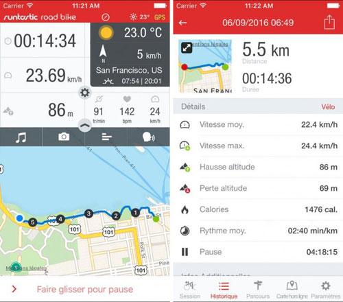 تطبيق Runtastic Road Bike GPS PRO للدراجين