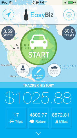 تطبيق EasyBiz Mileage Tracker لمتابعة مصاريف الوقود