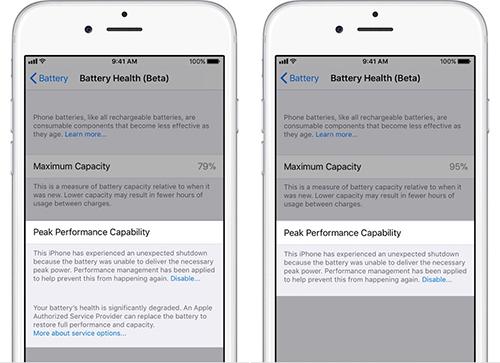 ميزة صحة البطارية في تحديث iOS 11.3