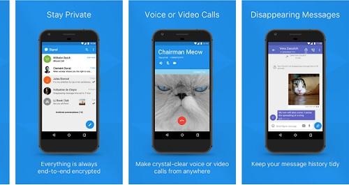 تطبيق المحادثات المشفرة Signal Private Messenger