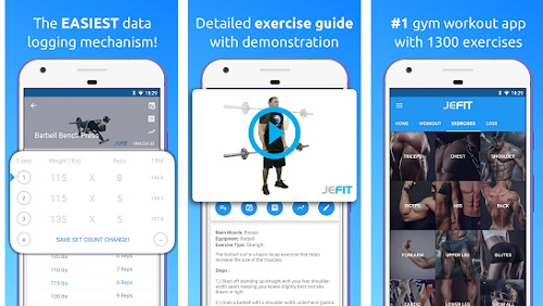 تطبيق JEFIT Workout Tracker