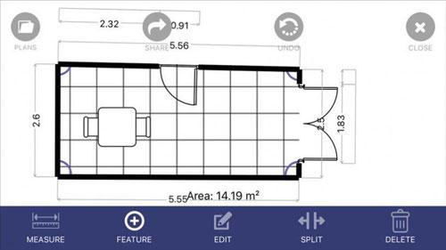 تطبيق Floor Plan App لرسم مخطط منزلك بنفسك