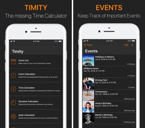 تطبيق Timity لمتابعة توقيت أهم الأحداث