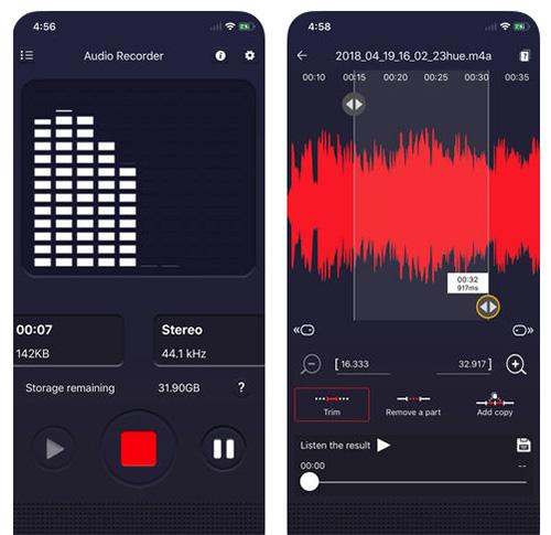Voice recorder - لتسجيل الصوت و تعديله