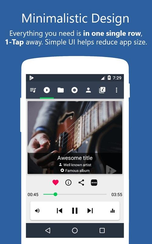 تطبيقMusicolet مشغل الموسيقي بدون انترنت