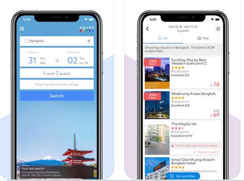 تطبيق Agoda - أرخص تطبيق لحجز الطيران و الفنادق!