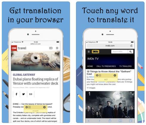 Touch & Translate - مترجم لمتصفح سفاري