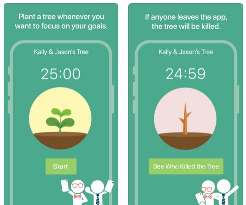 تطبيق Flora - للتركيز أثناء المذاكرة والعمل
