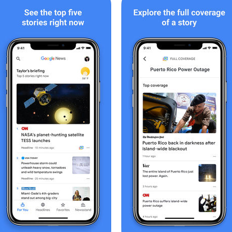 تطبيق جوجل للأخبار Google News متوفر الآن للتحميل!
