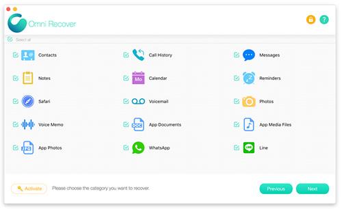 برنامج Omni Recover - لاستعادة الملفات المحذوفة على أجهزة الآيفون و الآيباد!