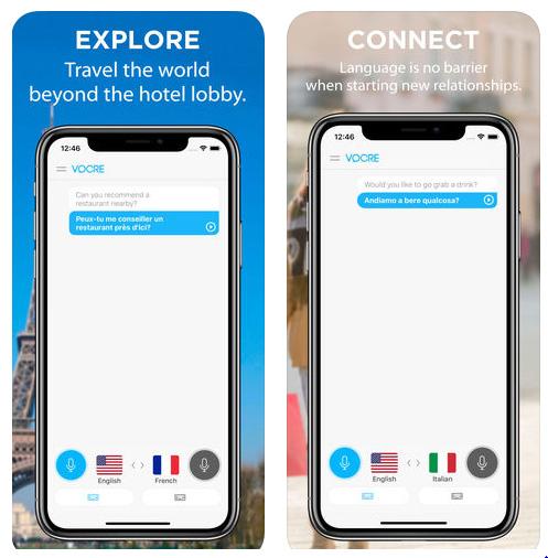 تطبيق Vocre Language Translator - مترجم صوتي