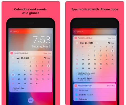 تطبيق Widget Calendar