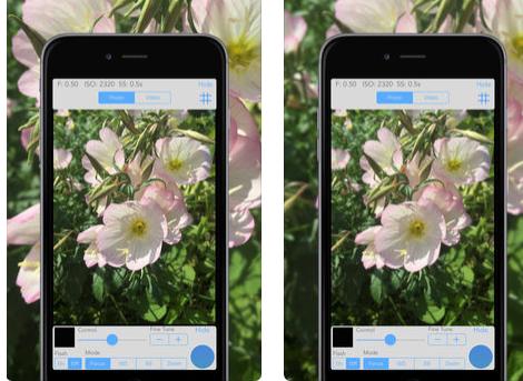 تطبيق ReliCam - للتحكم اليدوي بالكاميرا