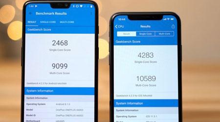 اختبارات الأداء: آيفون X ضد OnePlus 6 - أيهما أفضل ؟!