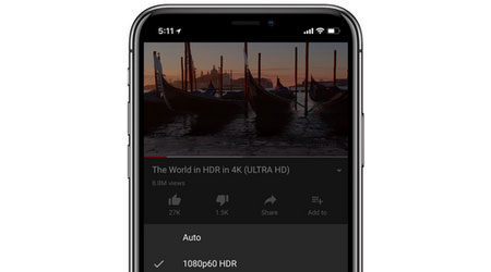 Photo of ايفون X يحصل على دعم فيديوهات HDR من يوتيوب!