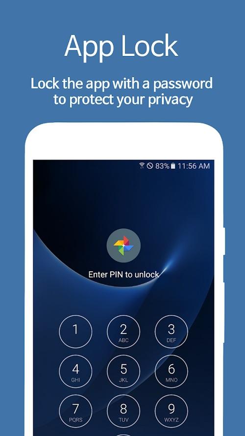 تطبيق AppLock – Fingerprint لقفل التطبيقات والهاتف.