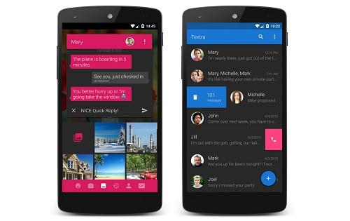 تطبيق Textra SMS لإرسال واستقبال الرسائل النصية