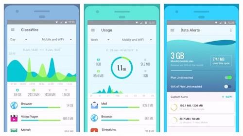 تطبيق GlassWire لمراقبة استخدام الإنترنت