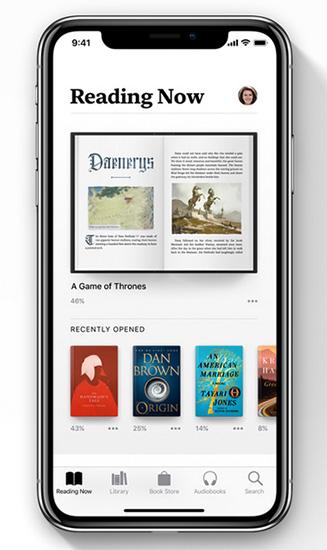 تطبيق الكتب في iOS 12