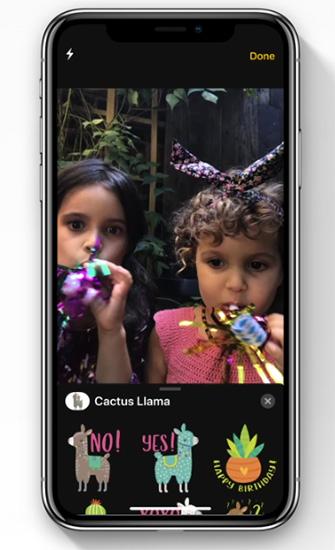 تأثيرات الكاميرا داخل FaceTime
