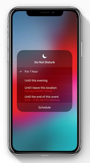 ميزة عدم الإزعاج Do Not Disturb في iOS 12