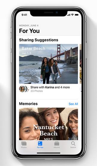 تطبيق الصور في iOS 12