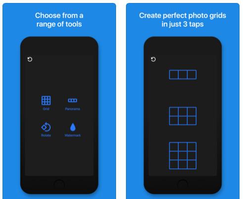 تطبيق InstantGrid - لتفسيم الصور