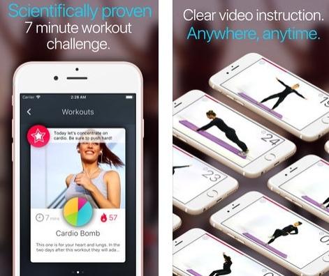 تطبيق Wonder Seven-Minute Workout للتمارين الرياضية