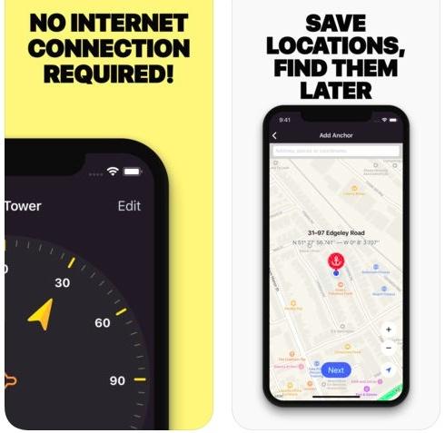 تطبيق Anchor Pointer GPS للملاحة و عرض الاتجاهات