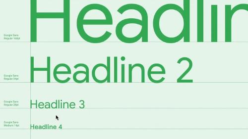 خط Google Sans الجديد في التصميم