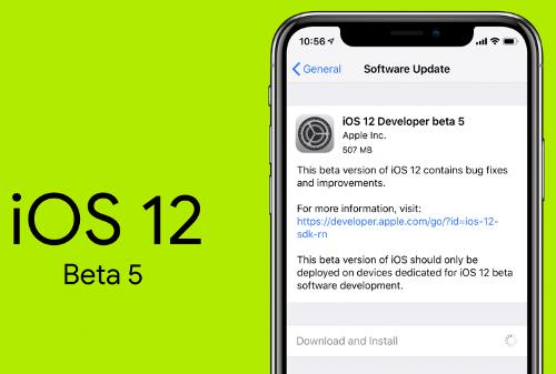 آبل تطلق النسخة التجريبية الخامسة من نظام iOS 12 - ما الجديد؟!