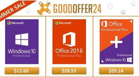 احصل على منتجات مايكروسوفت (ويندوز 10 و أوفيس 2016 برو) بأرخص الأسعار من Goodoffer24 - خصم كبير!